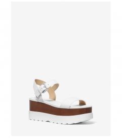 MICHAEL Michael Kors Marlon Leather Flatform Sandal