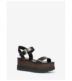 MICHAEL Michael Kors Marlon Leather and Logo Flatform Sandal