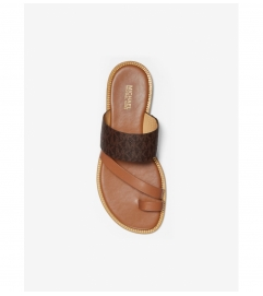 MICHAEL Michael Kors Pratt Logo and Leather Sandal