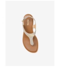 MICHAEL Michael Kors Logo Plate Leather Sandal