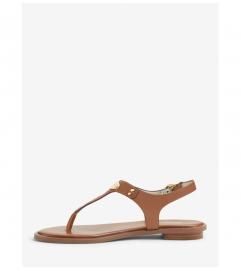 MICHAEL Michael Kors Logo Plate Leather Sandal