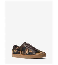 Michael Kors Mens Jake Camouflage Calf Hair Sneaker