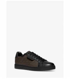 Michael Kors Mens Keating Logo and Leather Sneaker