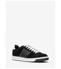 Michael Kors Mens Tyler Suede and Logo Sneaker