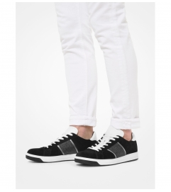 Michael Kors Mens Tyler Suede and Logo Sneaker