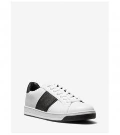 Michael Kors Mens Tyler Leather and Logo Sneaker