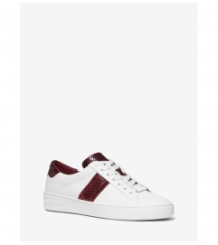 MICHAEL Michael Kors Irving Python Embossed Stripe Leather Sneaker