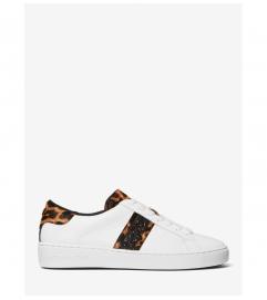 MICHAEL Michael Kors Irving Leopard Print Calf Hair and Leather Stripe Sneaker