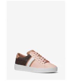 MICHAEL Michael Kors Irving Color-Block Leather and Logo Stripe Sneaker
