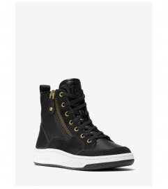MICHAEL Michael Kors Shea Leather and Suede High Top Sneaker