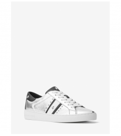 MICHAEL Michael Kors Frankie Studded Metallic Leather Sneaker