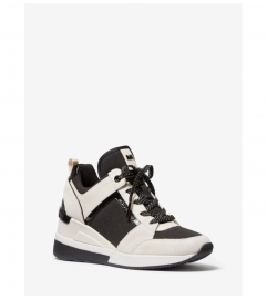 MICHAEL Michael Kors Georgie Mixed-Media Trainer