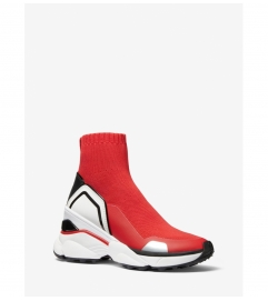 MICHAEL Michael Kors Mickey Stretch Knit and Leather Sock Sneaker