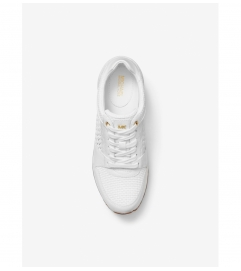 MICHAEL Michael Kors Billie Woven And Leather Trainer