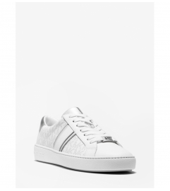 MICHAEL Michael Kors Irving Logo and Metallic Leather Stripe Sneaker