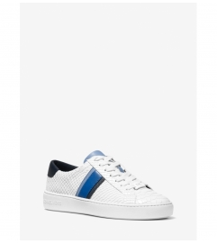 MICHAEL Michael Kors Irving Stripe Snake-Embossed Leather Sneaker