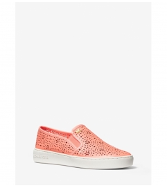 MICHAEL Michael Kors Kane Perforated Leather Slip-On Sneaker