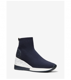 MICHAEL Michael Kors Skyler Stretch Knit and Two-Tone Logo Sock Sneaker
