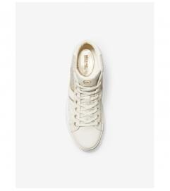 MICHAEL Michael Kors Chapman Logo Jacquard and Leather High-Top Sneaker