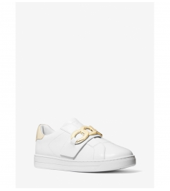 MICHAEL Michael Kors Kenna Chain Link Leather Sneaker