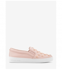 MICHAEL Michael Kors Keaton Studded Leather Slip-On Sneaker