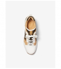 MICHAEL Michael Kors Georgie Logo and Leather Trainer