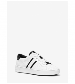 MICHAEL Michael Kors Irving Snake-Embossed Leather Stripe Sneaker