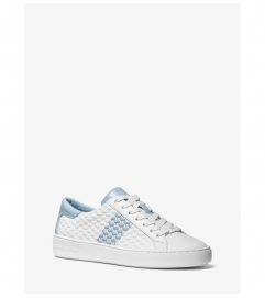 MICHAEL Michael Kors Colby Striped Logo Embossed Leather Sneaker