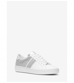 MICHAEL Michael Kors Irving Glitter Chain-Mesh and Leather Sneaker