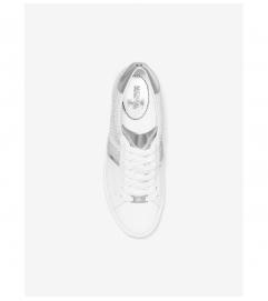 MICHAEL Michael Kors Irving Glitter Chain-Mesh and Leather Sneaker