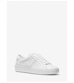 MICHAEL Michael Kors Irving Crocodile Embossed Leather Sneaker