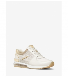 MICHAEL Michael Kors Allie Extreme Studded Mixed-Media Trainer
