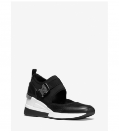 MICHAEL Michael Kors Effie Scuba and Mesh Cutout Slip-On Trainer