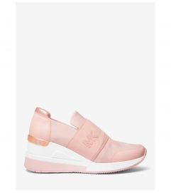MICHAEL Michael Kors Felix Canvas and Leather Trainer