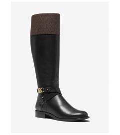 MICHAEL Michael Kors Kincaid Leather and Logo Riding Boot