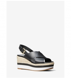 MICHAEL Michael Kors Morgana Leather Espadrille Wedge Sandal
