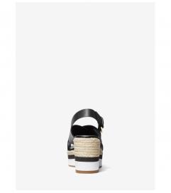 MICHAEL Michael Kors Morgana Leather Espadrille Wedge Sandal