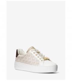 MICHAEL Michael Kors Poppy Two-Tone Logo Sneaker