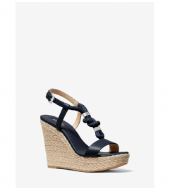 MICHAEL Michael Kors Holly Leather Wedge Sandal