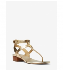 MICHAEL Michael Kors Sasha Metallic Leather Sandal
