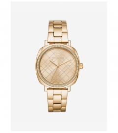 Michael Kors Nia Pavé Gold-Tone Watch