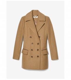 MICHAEL Michael Kors Wool Blend Double Breasted Peacoat