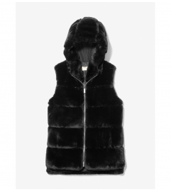 MICHAEL Michael Kors Faux Fur Hooded Vest