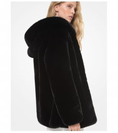 MICHAEL Michael Kors Oversized Faux Fur Hooded Coat