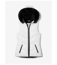 MICHAEL Michael Kors Quilted Nylon Hooded Vest