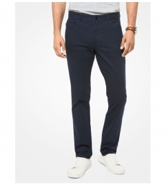 Michael Kors Mens Parker Slim-Fit Stretch-Twill Pants