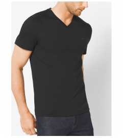 Michael Kors Mens V-Neck Cotton T-Shirt