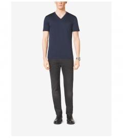Michael Kors Mens V-Neck Cotton T-Shirt