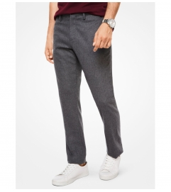 Michael Kors Mens Slim-Fit Stretch-Flannel Trousers