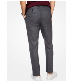 Michael Kors Mens Slim-Fit Stretch-Flannel Trousers